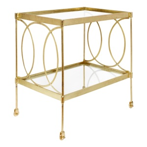Gold & Glass rolling bar cart-14002783