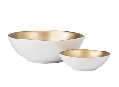 Threshold gold and white bowl, $9.99 and $19.99